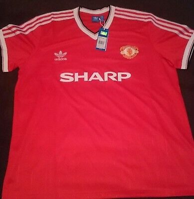 Men's XXL Manchester United Jersey. Brand New with Tags- 1984- Vintage- Adidas