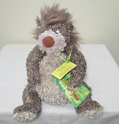 The Jungle Book, Disney Store Scruffy Baloo Bear, Soft Toy With Tags