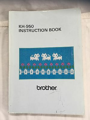 Brother 950 Electronic Knitting Machine Instruction Book Manual