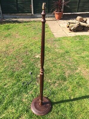 Vintage Antique Wooden Lamp Stand Retro Living Room