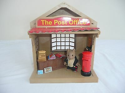 sylvanian families vintage post office with postman and accessories