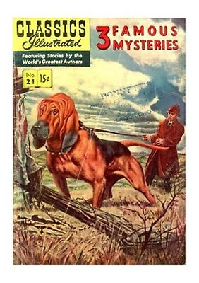 Classics Illustrated #21 [HRN 114] - 3 Famous Mysteries (Dec 1953, Gilberton)