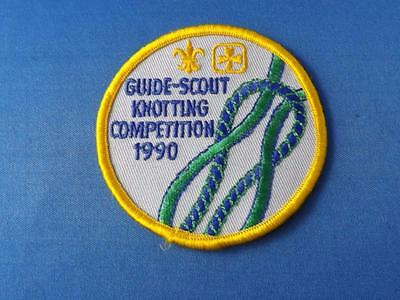Boy Scouts Girl Guidespatch Badge Guide/scout Knotting Competition 1990