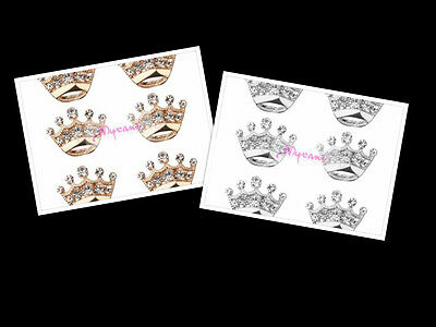 Princess Crown Bling Mini Brooch Badge Jewellery Mothers Day Valentines Gifts