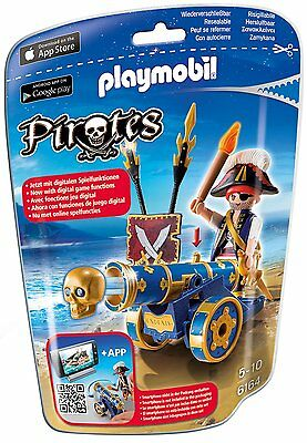 Playmobil® Pirates 6164 - Blaue App Kanone mit Piraten Offizier - NEU !