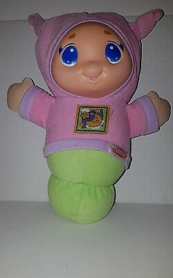 "Playskool Pink Glow Worm 9"" Musical Night Light Plush Toy - Hasbro 2009"