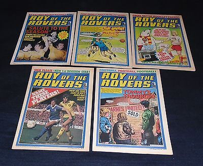 5 X Issues Roy Of The Rovers. 8th, 22nd, 29th July, 5th & 12th August 1978