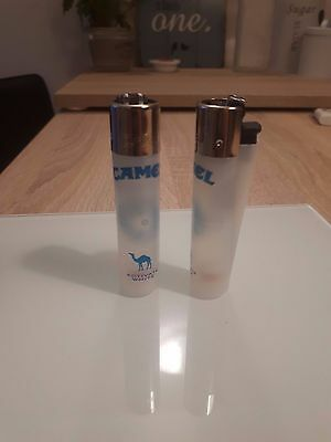 Two White Camel Clipper Lighters Brand New Limited Edition