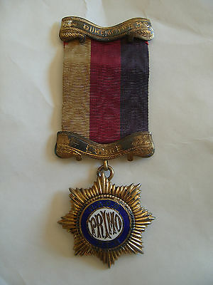 ROAB Masonic Hallmarked 1920 Sterling Silver PRIMO Medal Duke of Fife Lodge