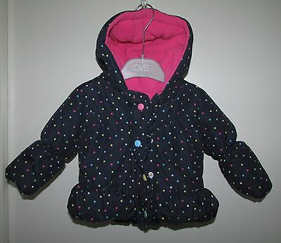 Baby Girls Jacket 6-9 Months Padded Cosy Great Condition By George
