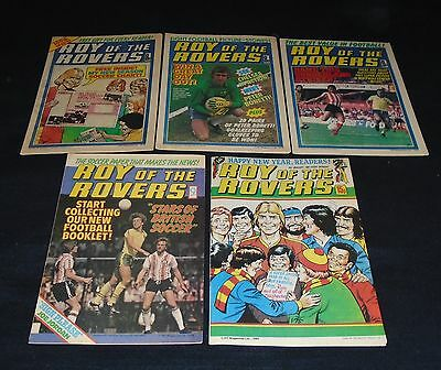 5 X Issues Roy Of The Rovers. 19th, 26th August, 7th Oct, 25th Nov, 3rd Jan