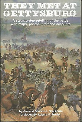 They Met at Gettysburg by Edward J. Stackpole (1982, Paperback) b3301