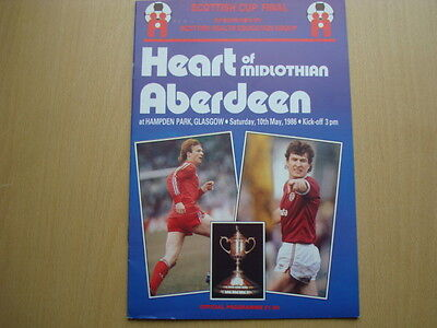 HEARTS V ABERDEEN MAY 1986 (Scottish Cup Final)