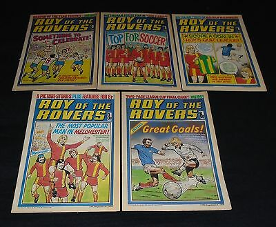 5 X Issues Roy Of The Rovers.18th Feb,25h Feb,4th March,11th March,18th March 78