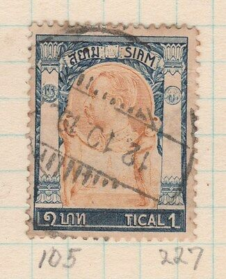 THAILAND 1905 1TICAL King FINE USED #