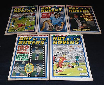 5 X Issues Roy Of The Rovers. 3rd, 10th, 17th, 24th June & 1st July 1978