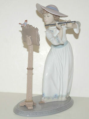 Rare Lladro Porcelain **song Bird**  Retired Figurine With Original Box - 6093