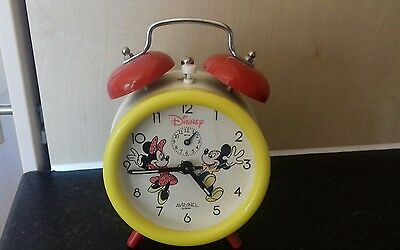 Vintage avronel Disney alarm clock rare collectable. Disney. Micky mouse Minnie