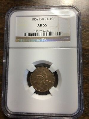 1857 NGC AU55 Flying Eagle 1 cent