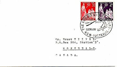 Australia 1958 Cover With Christmas Stamps