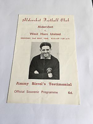 Jimmy Sirrel Testimonial 2/5/1966
