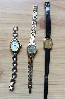 Joblot of Three Two Working, Ladies Rotary Watches.Two Quartz and One Hand Wind.