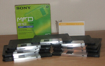 9 New Sony MFD 2HD IMB formatted 1.44 MB 3.5 Double Sided High Density Floppy Di