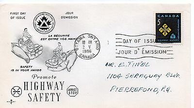 Canada 1966 Fdc - Promote Highway Safety