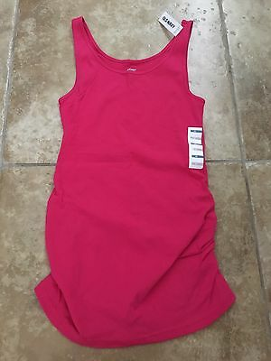 Old Navy Maternity Medium M Fitted Hot Pink Tank Top Shirt Motherhood NEW NWT
