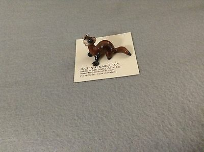 Hagen-Renaker Mini #3319 FERRET LYING-Miniature Ceramic Figurine