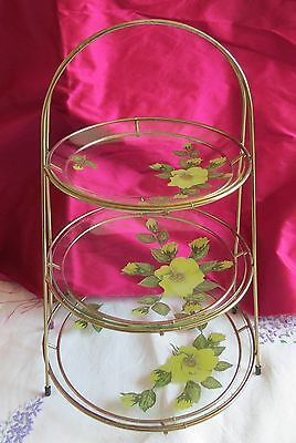 Chance glass 3 tier cake stand 60's