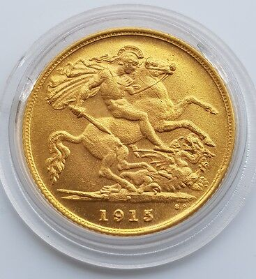 1915 perth gold half sovereign