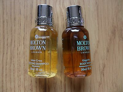 MOLTON BROWN 2 piece travel size toiletry set. Shampoo and Body Wash.