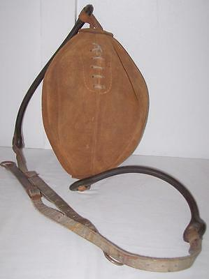 Vintage Leather Suede Boxing Speed Punch Bag Ball Floor to ceiling.