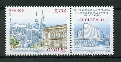 France 2017 MNH 90th FFAP Congress in Cholet 1v Set Architecture Stamps