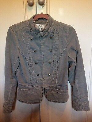 Ladies Next Military Style Jacket. Size 10. Grey Colour. Excellent condition