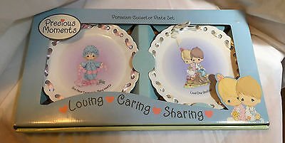 PRECIOUS MOMENTS SET of TWO PORCELAIN PLATES