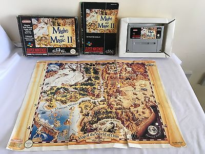 MIGHT AND MAGIC II 2 Super Nintendo SNES GAME PAL COMPLETE