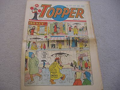 The Topper Comic No 612 October 24Th 1964 Mickey The Monkey Vintage Paper Comic