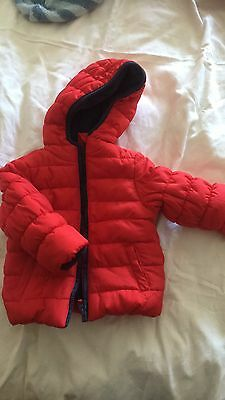 Mothercare Red Padded Jacket / Coat 9-12 Months