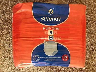 ATTENDS Pull On Inconvenience Pants Size Medium Absorbency Level 5 (18 Pack)