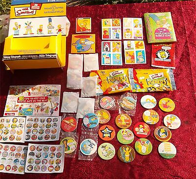 SIMPSONS TAZOS STICKS FOLDER BUBBLE GUM CARDS PACK BOX LOT 90s RARE Australia