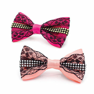 Toddler Hair Bows Little Girls Bow Hair Clips Pearls Lace Sequined Bows Infant