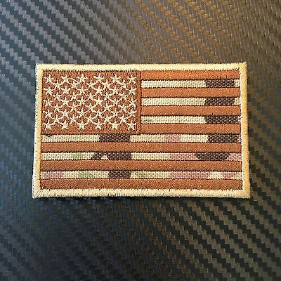 Embroidered Multicam Us Flag United States Morale Patch W Velcro® Bnd Ocp Usaf