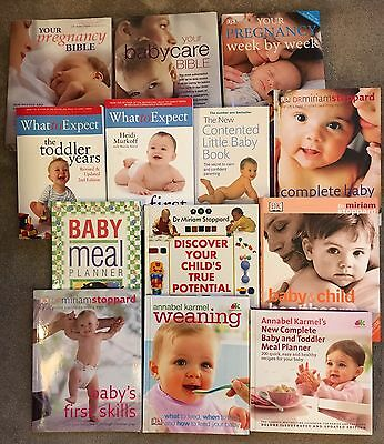 Pregnancy Baby Toddler Reference Books - Batch Lot x13 - Collection Bedford