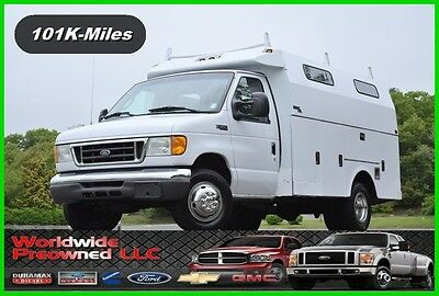 2005 Ford E-Series Van Enclosed Utility Van 2005 Ford E-350 E350 XL Cutaway Enclosed Utility Van 5.4L Triton Gas Used Truck