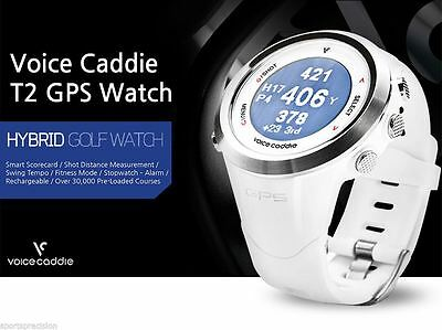Voice Caddie Golf Reloj  T2 GPS Golf & Fitness Watch Colour Blanco / White