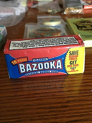 Vintage Pack Classic Bazooka Bubble Gum *New Old Stock*
