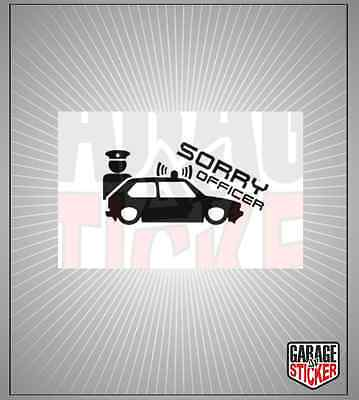 1x Problem Officer Autoaufkleber Sticker Aufkleber Tuning Fun VW Audi Ford Low