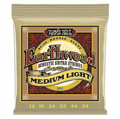 Ernie Ball Earthwood Acoustic Guitar Strings Medium Light 2003